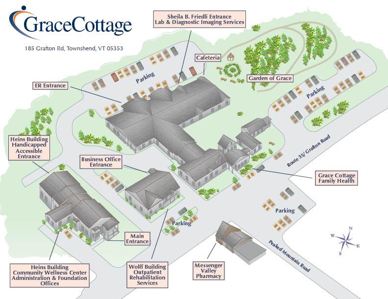Grace Cottage Map