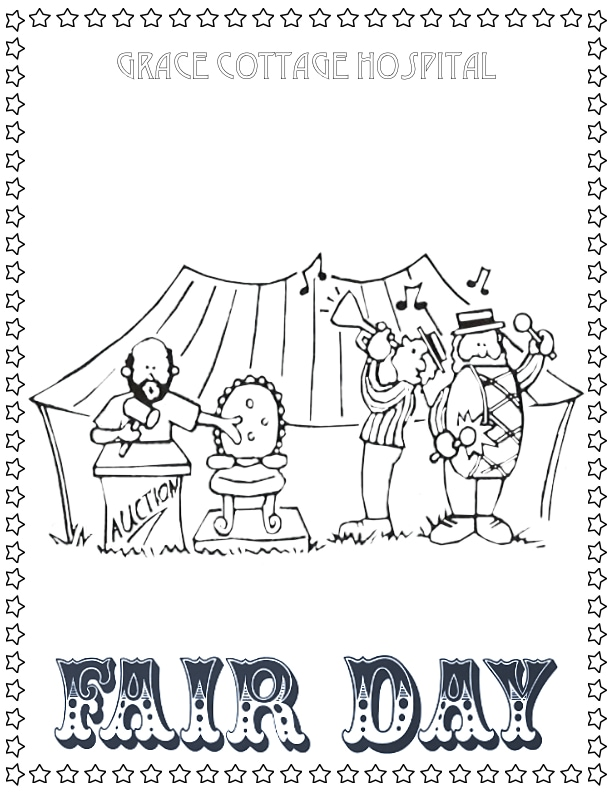Auction Band Coloring Page
