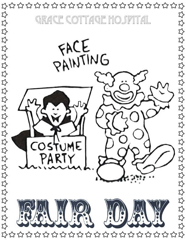 Costumes Face Painting Coloring Page