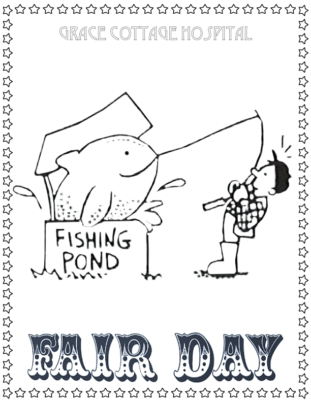 Fishing Pond Coloring Page