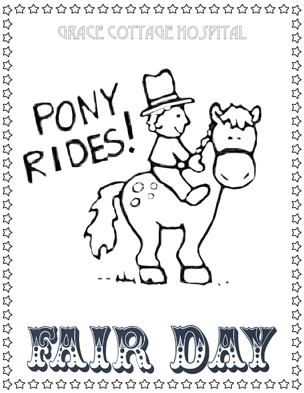 Pony Rides Coloring Page