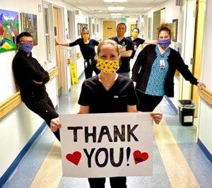 Masked Nurses TY sign
